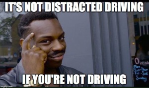 distracted driving meme